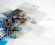 Global infinity computer  technology concept business background Royalty Free Stock Image