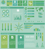 Global infographics. Vector illustration of global theme infographic with 18 icons, 1 world map and 5 different kinds of diagram. Altogether file contains 14 vector illustration
