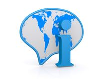 Global information button Stock Image