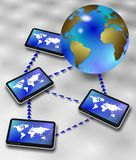 Global information network Stock Photos