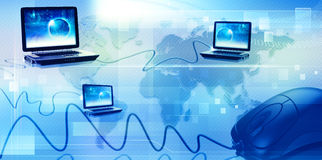 Global information network. Abstract techno backgrounds Royalty Free Stock Photos