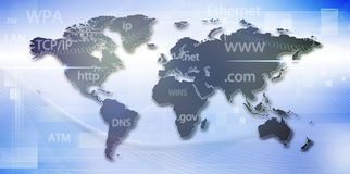 Global information network Royalty Free Stock Images