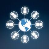 Global information symbol Stock Photo