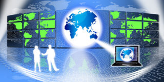 Global Information Technology Royalty Free Stock Photos