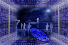 global informationsteknik Arkivbild