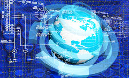 Global innovation engineering connection technology Stock Images