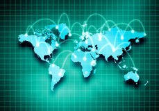 Global interaction stock illustration