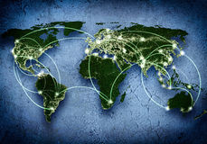 Global interaction Royalty Free Stock Photos