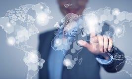 Global interaction Stock Image