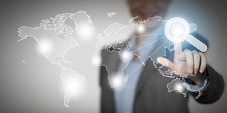 Global interaction Stock Photo