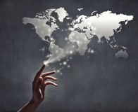 Global interaction Royalty Free Stock Images