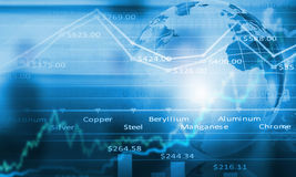 Global interaction. Concept image. Conceptual image with global financial charts and graphs Stock Photo