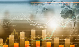 Global interaction. Conceptual image with global financial charts and graphs Royalty Free Stock Photography