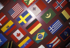 Global International Flags Stock Images