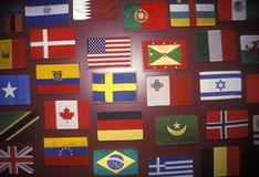 Global International Flags Royalty Free Stock Images