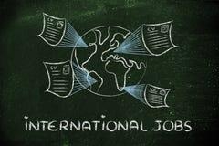 Global internationell rekryteringprocess Arkivbild