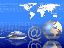 Global Internet background Royalty Free Stock Photo