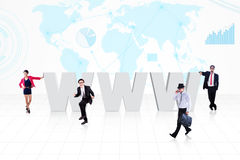 Global internet business Stock Image