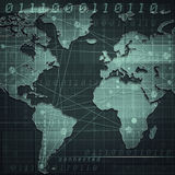 Global internet communications. Abstract industrial backgrounds Stock Images