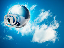 Global internet and communications backgrounds Stock Photo