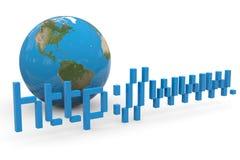 Global internet. Concept. Stock Photos