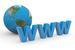 Global internet. Concept. Royalty Free Stock Photography