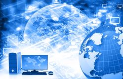Global internet connection. 3d illustration Royalty Free Stock Image