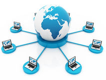 Global internet connections Stock Images