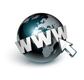 Global internet and cursor Stock Images
