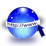 Global internet icons. Royalty Free Stock Image