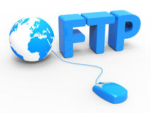 Global Internet Indicates File Transfer Protocol And Web Stock Image