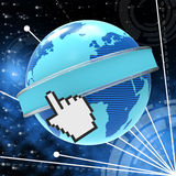 Global Internet Means World Wide Web And Copyspace Stock Image