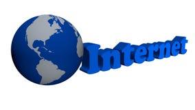 Global internet network. Blue color Stock Photos