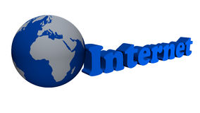 Global internet network. Blue color Royalty Free Stock Images