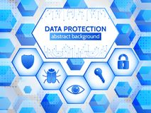 Global internet network protection. Cyber data  privacy. Royalty Free Stock Photography