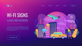 Global internet of things smart city concept vector illustration royalty free illustration