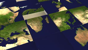 Global jigsaw puzzle Royalty Free Stock Image