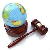 Global justice law. In the design of information related to law Royalty Free Stock Images