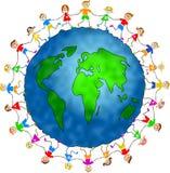 Global kids royalty free stock photos