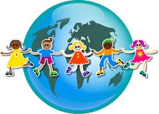 Global kids Stock Image