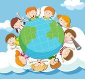 Global Kids on the Sky Stock Photography
