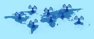 global kommunikation Arkivbilder