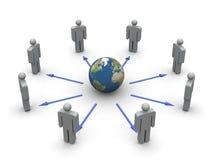 global kommunikation Arkivbild