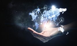 Global kommunikation och nätverkande Arkivfoton