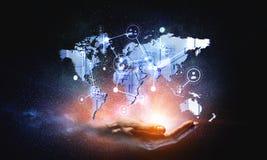 Global kommunikation och nätverkande Arkivbild