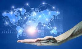 Global kommunikation och nätverkande Arkivfoto