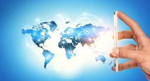 Global kommunikation och nätverkande Fotografering för Bildbyråer