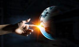 Global kommunikation och partnerskap Royaltyfri Bild