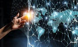 Global kommunikation och partnerskap Arkivfoto