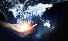 Global kommunikation och partnerskap Arkivfoton